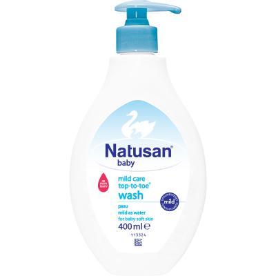 Natusan® Mild Care Top-to-Toe™ Wash pitää vauvan ihon pehmeänä