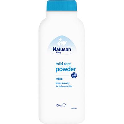 Natusan® Mild Care -talkki pitää vauvan ihon kuivana