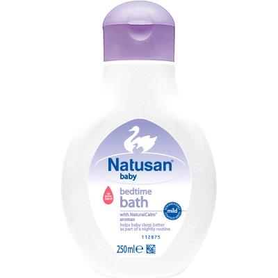 Natusan ® Bedtime Bath tekee vauvan nukuttamisen helpommaksi