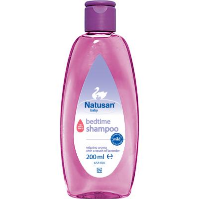 Natusan® Bedtime Shampoo auttaa vauvan nukuttamisessa
