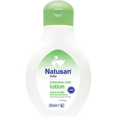 Natusan® Intensive Care Lotion on nopeasti imeytyvä kosteusvoide vauvan kuivalle iholle