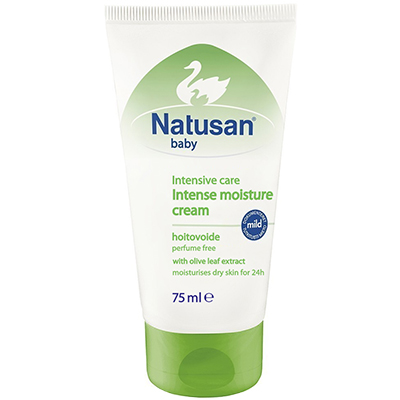 Natusan® Intensive Care Intense Moisture Cream on hajusteeton ihovoide vauvan iholle